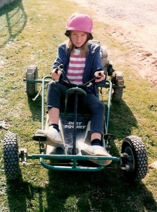 Your blogger, Sharon, grew up on a farm in Young, country NSW, which meant fun times on the go kart