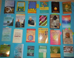 Books from a range of self-help masters and gurus