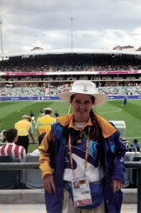 Your blogger, Sharon was a volunteer for the 2000 Sydney Olympic Games