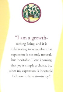 Law of Attraction Card, I want continual, joyous growth by Jerry and Esther Hicks and the teachings of Abraham