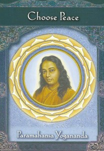 The Choose Peace card was drawn from Doreen Virtue's Ascended Masters Oracle Cards deck.