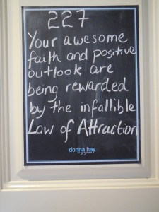 Angel number 227, your awesome faith and positive outlook are being rewarded by the infallible Law of Attraction.