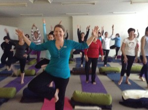 Blogger of Messages from the Heart, Sharon Halliday, enjoys the benefits of yoga and taking time out.