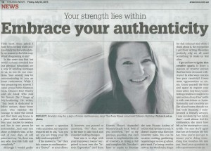 This Ask Sharon (angel intuitive) column in The Area News on Friday 3 July, 2015 answers a reader's question about their anxiety by providing a creative solution.