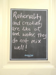 Today's Messages from the Chalkboard about creativity is a sneak peak at the next Ask Sharon column, due out in Friday's edition of The Area News.