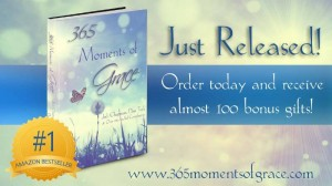 Columnist and blogger Sharon Halliday officially becomes a published author with the release of 365 Moments of Grace on sale now