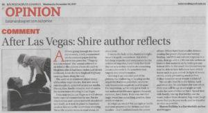 Eurobodalla-Shire-Author-and-Blogger-Sharon-Halliday-Reflects-On-Las-Vegas-Shooting